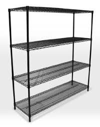 Black Epoxy Coated Shelving & Posts