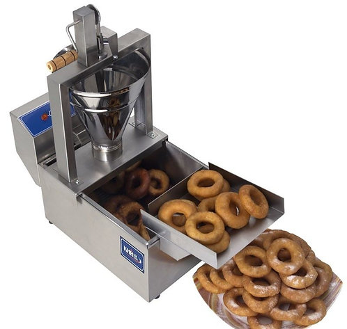 Small compact donut fryer with manual machine - can do fries and othe items