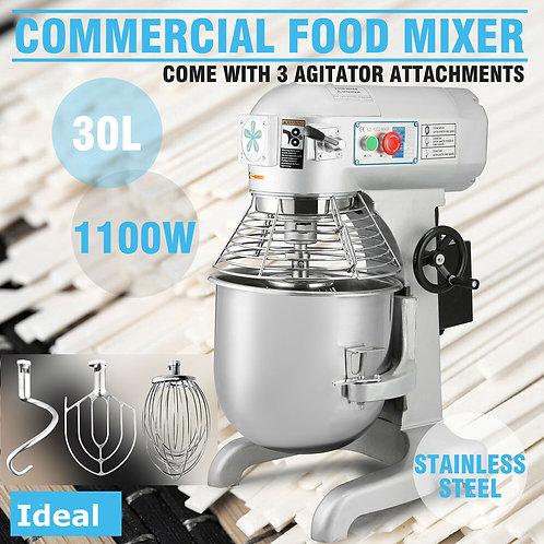 1.5Hp 30 Qt Commercial Bakery Mixer Dough Blender Food Mixer Gear Driven - BRAND