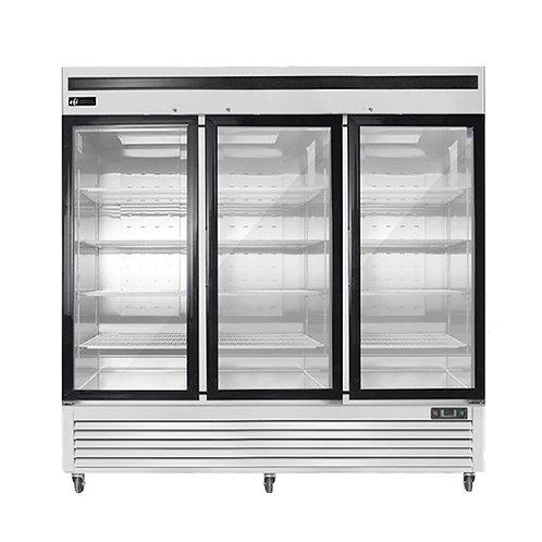 82″ Three Door Glass Reach In Freezer