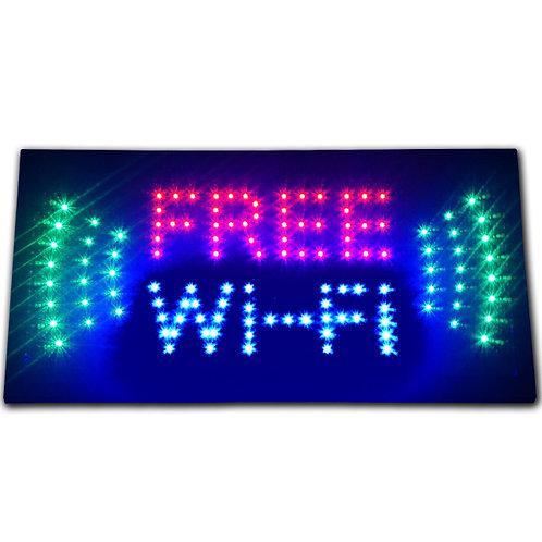 Free Wi-Fi internet cafe LED store Sign WIFI shop Open hotspot