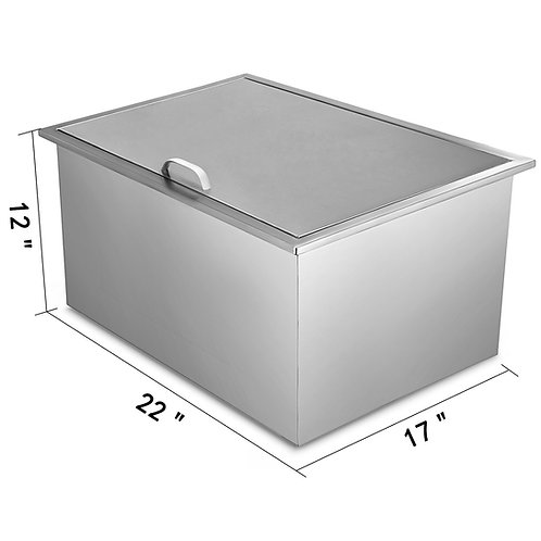 """22""""x17"""" Outdoor Kitchen Drop-in Ice Chest Basin Insulated Wall Cooler Beverage"""