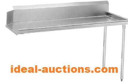 CLEAN DISH TABLING - STAINLESS STEEL - 7 SIZES TO CHOOSE FROM
