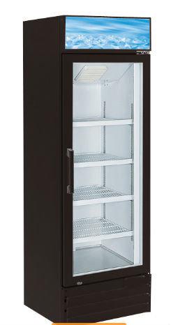 "26"" Swing Glass Door Black Merchandiser Refrigerator - Available in  black or wh"