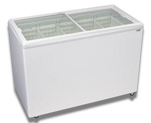 ICE CREAM FLAT TOP FLAT LID DISPLAY FREEZER - 12.4 Cu.ft