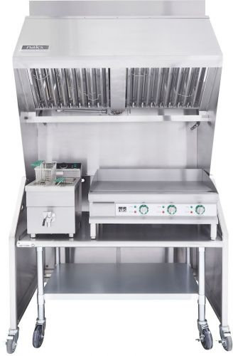 """VENTLESS 4FT PACKAGE 30LB. INDUCTION FRYER, 24"""" GRIDDLE, TABLE"""