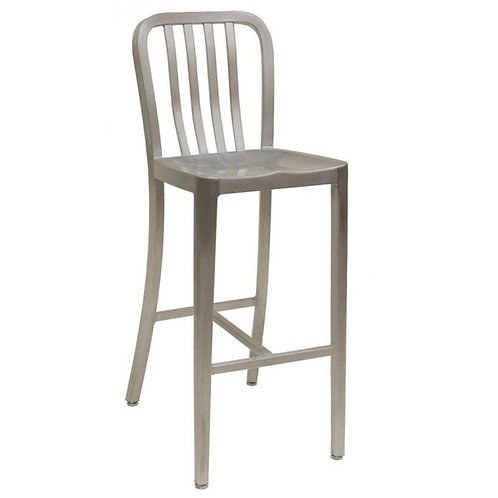 ARMLESS SLATBACK ALUMINUM BAR STOOL