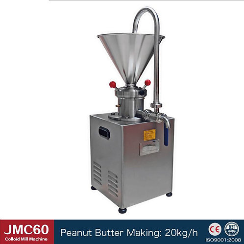 1.5KW Peanut butter maker automatic colloid mill sesame grinder machine 20kg/H