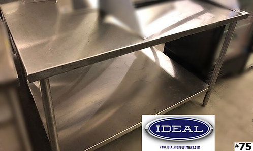 "Custom Stainless steel table 72"" x 52"" d"