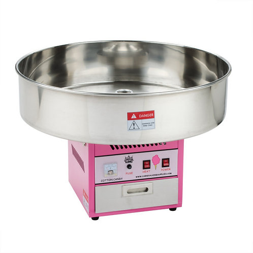 """Cotton Candy Machine with 28"""" Stainless Steel Bowl - 110V"""