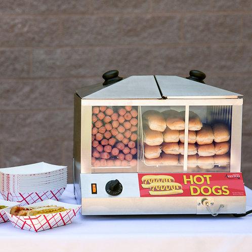 100 100 Dog / 48 Bun Hot Dog Steamer - 120V, 1300W