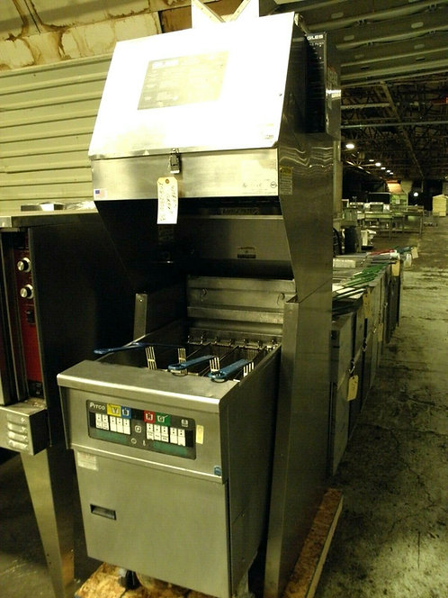 Giles FSH-2-PH Ventless Hood With Pitco SEF184 60lb Electric Fryer 208 V 3 Phase