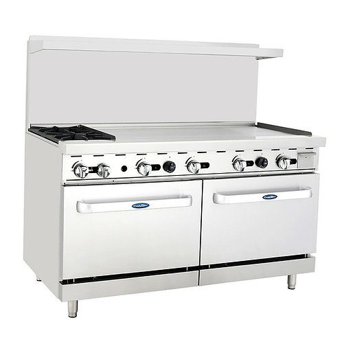 "CookRite 60"" (2) Burner Gas Range w/ Oven"