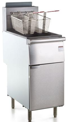 50 lb. Stainless Steel Floor Fryer - 4 Tubes, 120,000 BTU