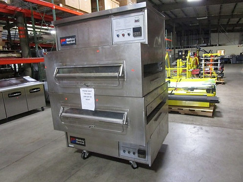 Double Stacked Middleby Marshall Pizza Conveyor Ovens