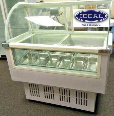 12 PAN GELATO ICE CREAM DISPLAY CASE