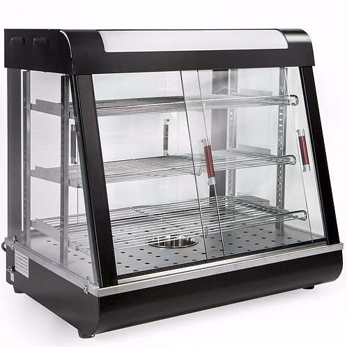 "27"" wide heated display case"