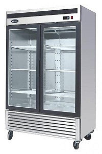 BOTTOM MOUNT TWO GLASS DOOR REFRIGERATOR - ALL STAINLESS STEEL