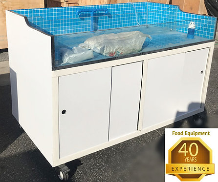 "48"" lobster -crab - seafood tank - 2 sections"
