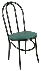 BISTRO CHAIR - AVAILABLE IN RED - BLACK OR GREEN