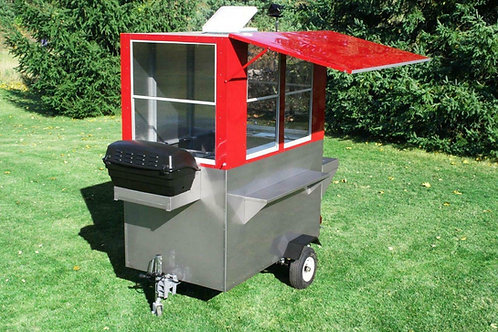 ENCLOSED HOT DOG CART VENDING CONCESSION TRAILER