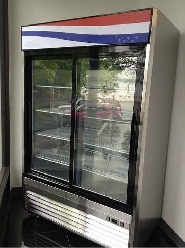SLIDING GLASS 2  DOOR REFRIGERATON - ALL STAINLESS STEEL