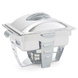 VOLLRATH 4.1 QT. MAXIMILLIAN RECTANGULAR CHAFER HALF SIZE WITH STAINLESS STEEL A
