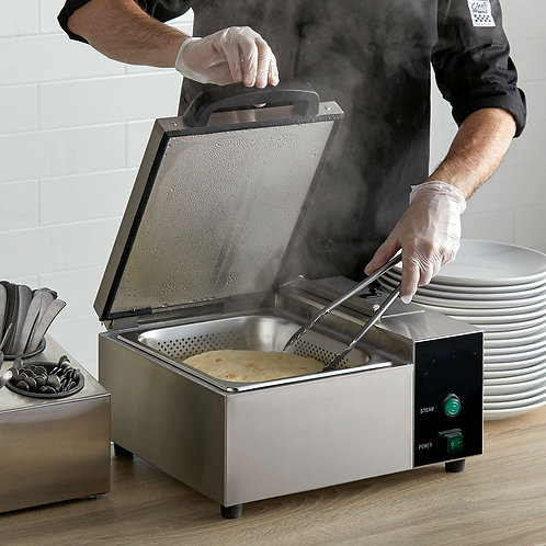 Steam Countertop Hot dog - Tortilla / Portion Steamer - 120V, 1800W