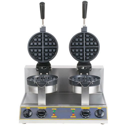 Double Belgian Waffle Maker with Timers - 120V
