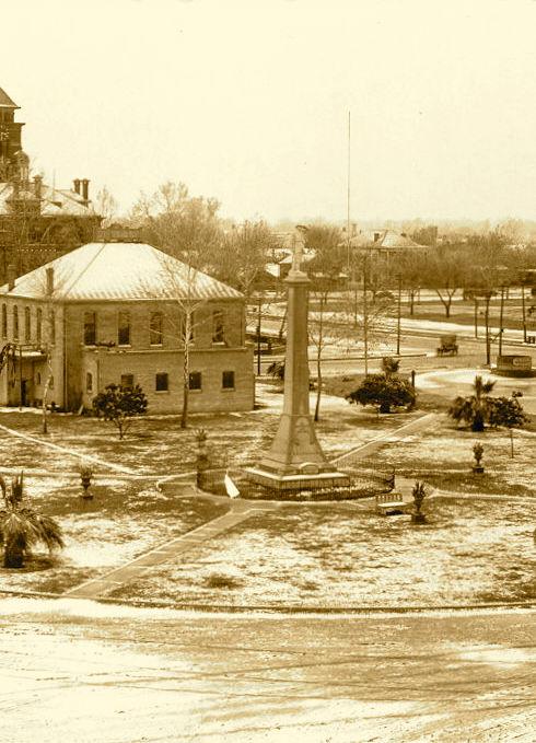 Confederate Square in Snow, Gonzales - V