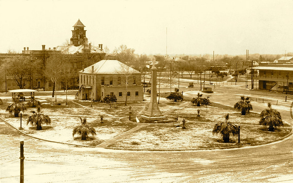 Confederate Square in Snow, Gonzales - V