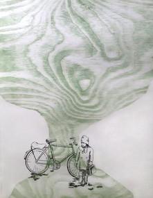 Gammelt tre og en sykkel