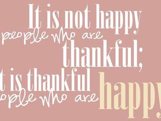 Thankful people = Happy People