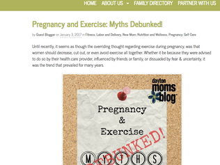 My Guest Blog - Pregnancy & Exercise: Myths Debunked