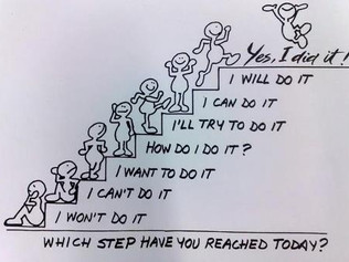 Which step WILL (not can) you reach today?