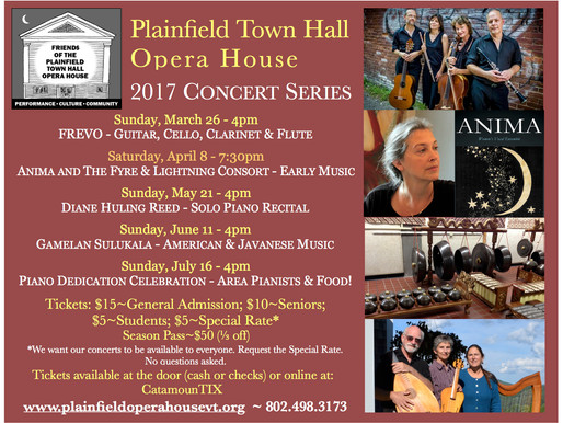 Plainfield Opera House Concert Series
