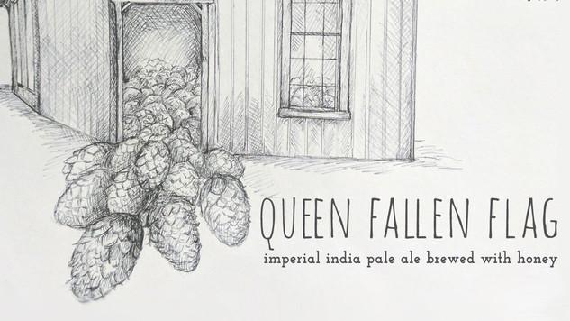 Queen Fallen Flag