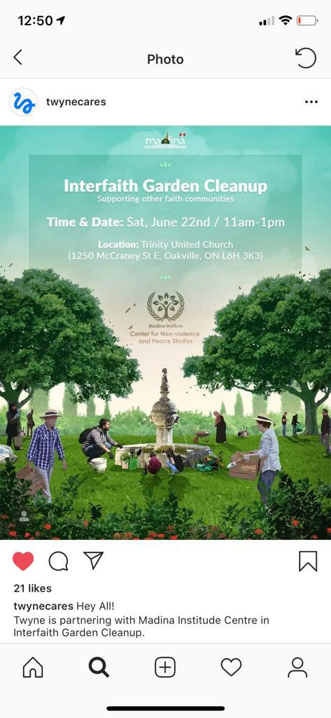 Interfaith garden CLEANUP FLYER