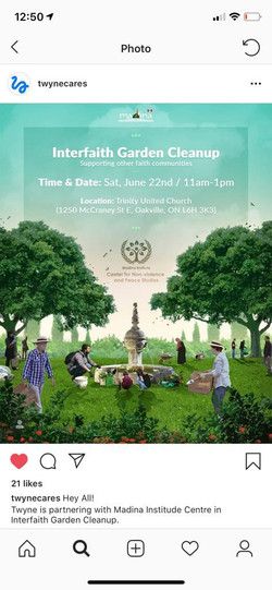 Interfaith garden CLEANUP FLYER