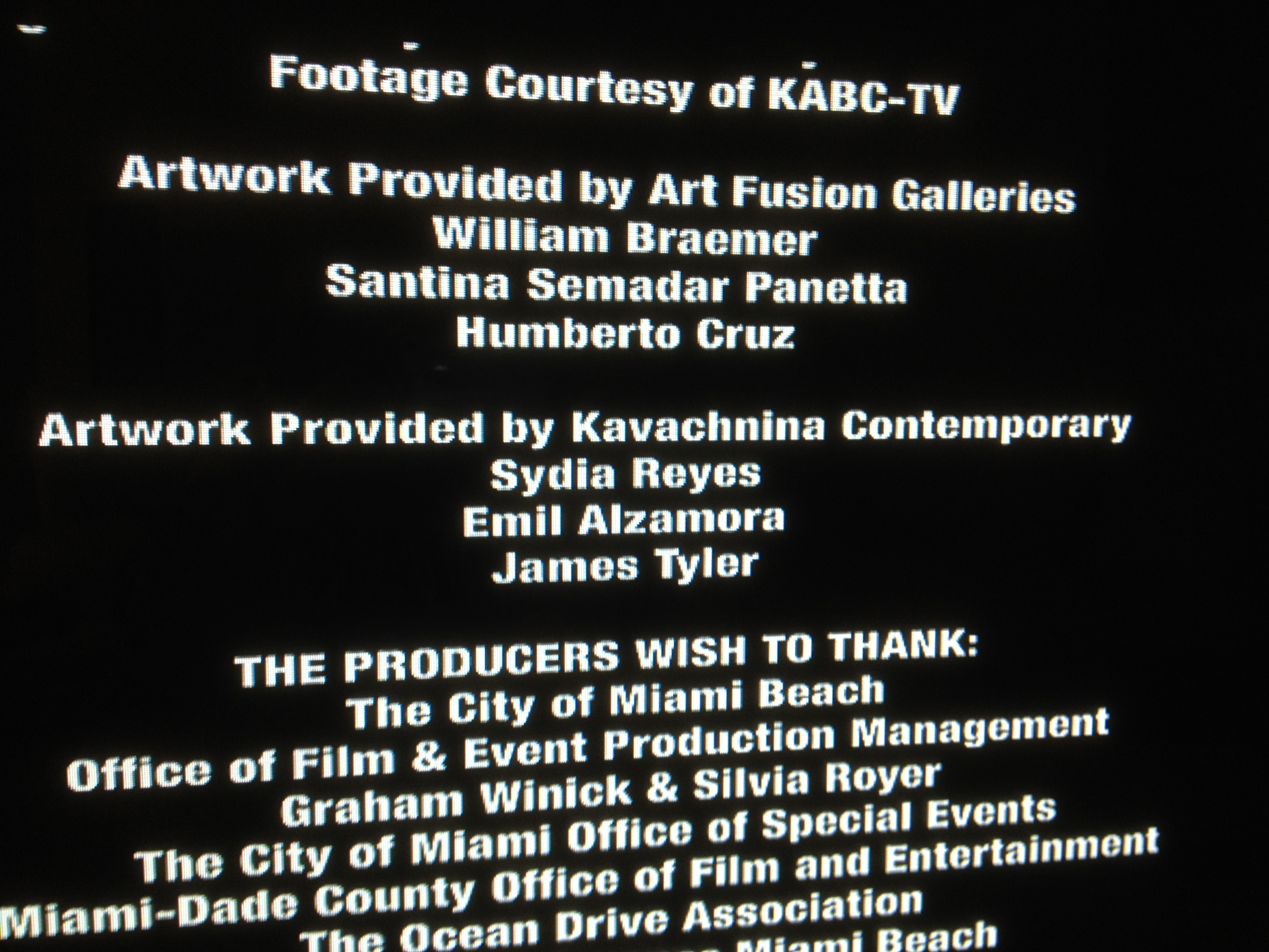 CREDITS STEP UP REVOLUTION - MUSEUM