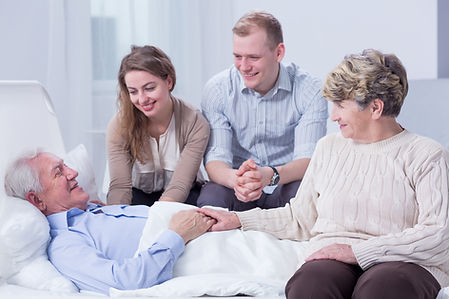 Happy family with older adult that worked with an elder law attorney at Heritage Law Group PLLC; shutterstock_452647549.jpg