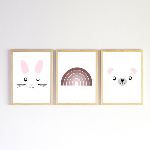 Poster A4 - Pack Rose