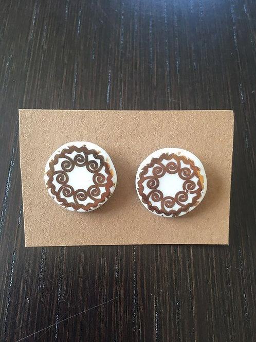 Boucles d'oreilles en porcelaine (plusieurs modèles à choix)