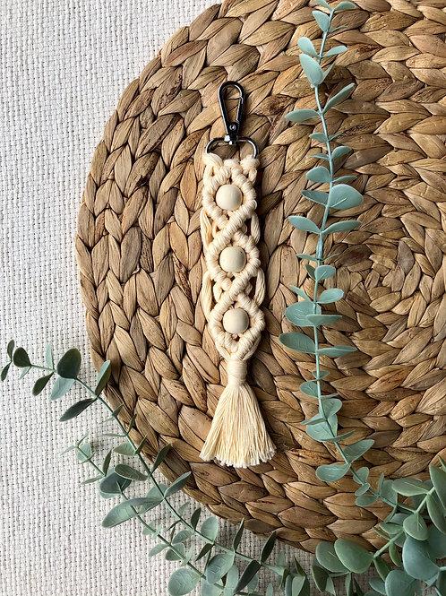 Porte-clés avec perle en bois (plusieurs modèles à choix)