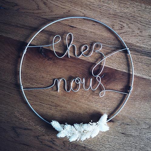 Cercle « Chez nous » doré
