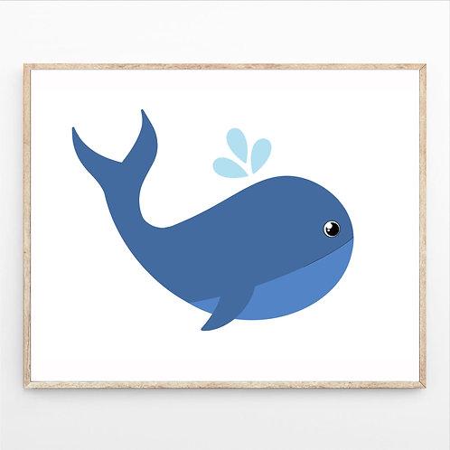 Poster A4 - Papa baleine
