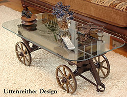 Repurposed Vintage Wood Wagon Coffee Table
