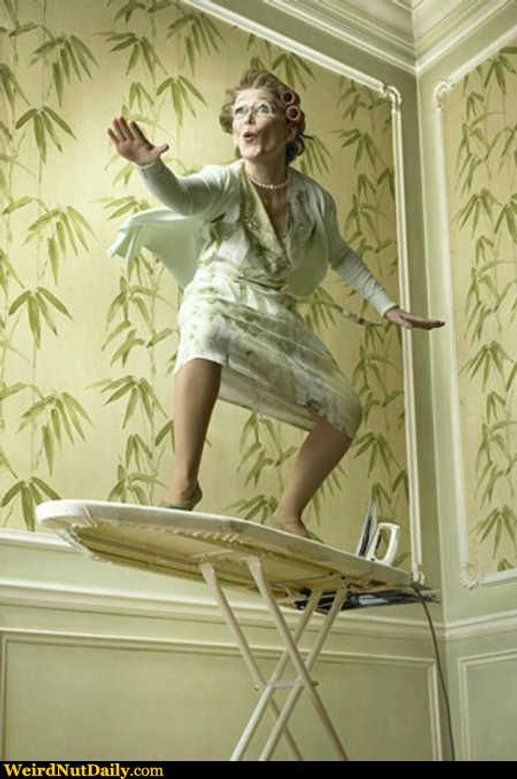 Surf's Up For A Wave Of Ironing Board Ideas
