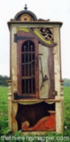 Artful junky junk cabinet
