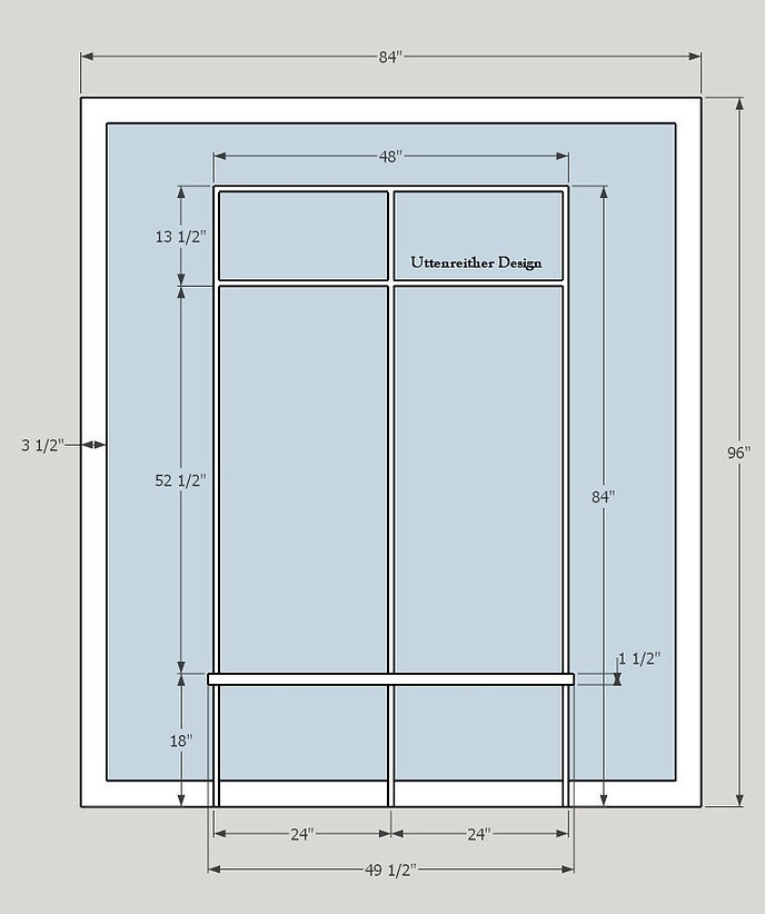 DIY Mud Room Station Plan Front View